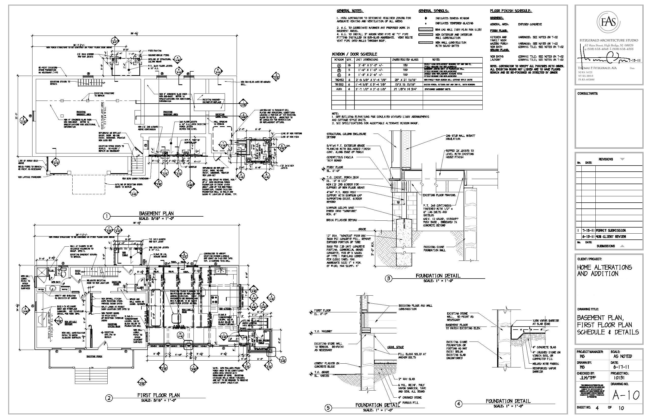 Construction documents fitzgeraldstudiosblog for Architectural plans and permits
